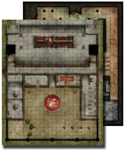 Paizo Com Gamemastery Flip Mat Monastery