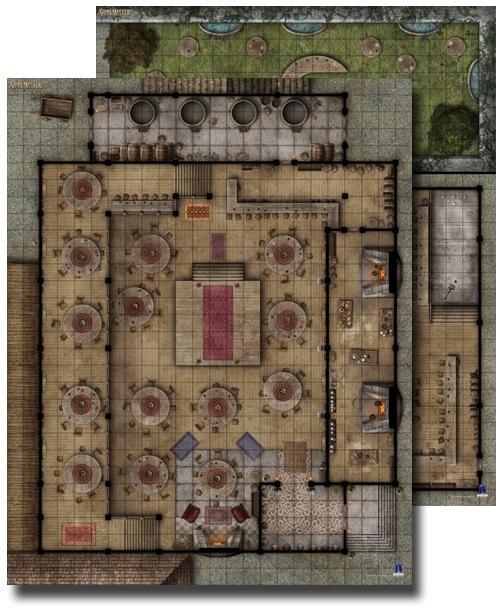 Paizo Com Gamemastery Flip Mat Urban Tavern