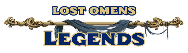 Lost Omens Legends decorative text logo
