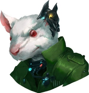 Fitch, a white-furred ysoki in a green flight suit, leader of the Wayfinders.