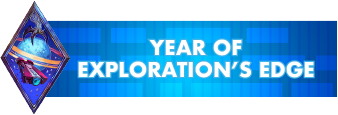 Year of Explorations Edge text logo