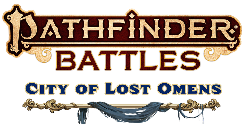 Pathfinder Battles City of Lost Omens text logos